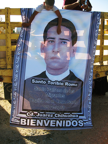 Santo Torribio, Saint Torribio, patron of immigrants, Juarez, Mexico
