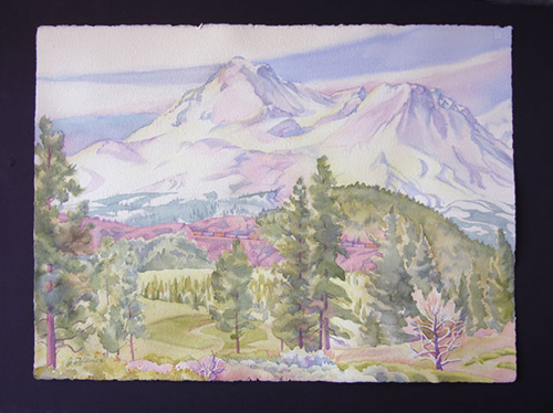 Cullimore painting of Mt. Shasta, Sr. Joanne Cullimore, OP