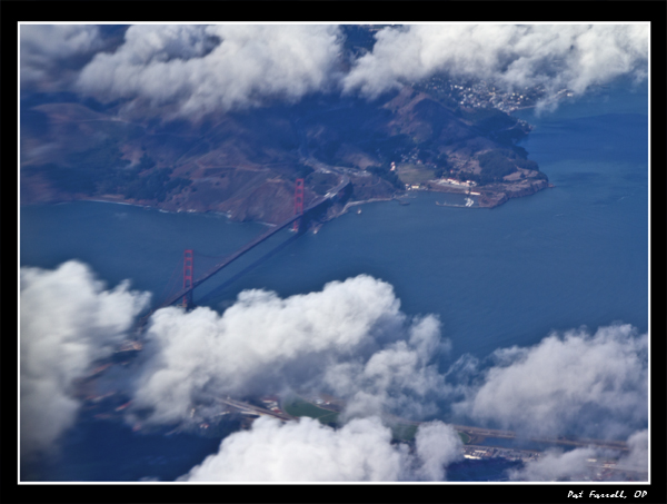 Gratefully gazing down on the Golden Gate Bridge from my heavenly perch in the sky