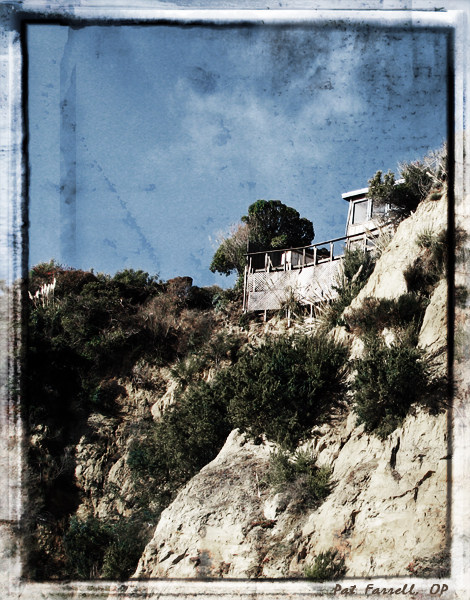 This home is precariously perched on a bluff above the Pacific Ocean below. How is my life situated?
