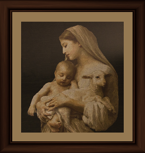 Counted cross-stitch by Sister Susan Marie Roche, OP