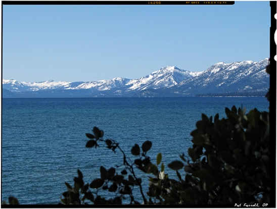 The beauty of the Sierras that  John Muir loved . . . at Lake Tahoe.