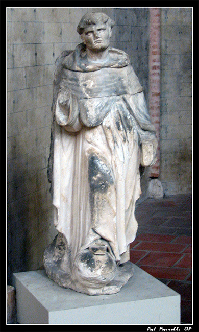 Statue of Thomas Aquinas from the Church of the Jacobins in Toulouse, France