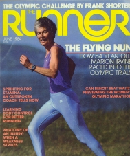 Sister Marion on the cover of Runner Magazine