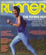 Sister Marion on the cover of Runner Magazine
