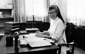 Sister Marion when she was a school principal