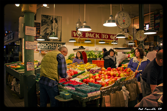 A cultural hub in Seattle, the Pike Place Market