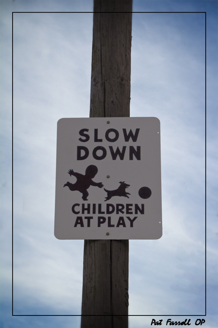 "In order to ""see"" the holy, we need to slow down . . . and be like children at play"