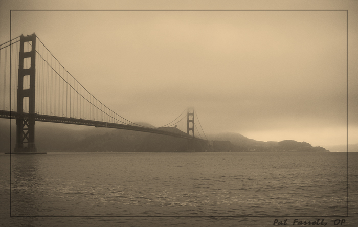 So what do you see? A dismal and foggy day? Or do you see the potential for majesty and that oak tree on the hill behind the bridge?