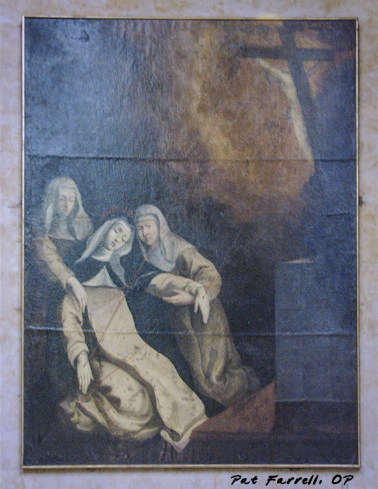 St. Catherine in a moment of ecstasy - painting in Toulouse