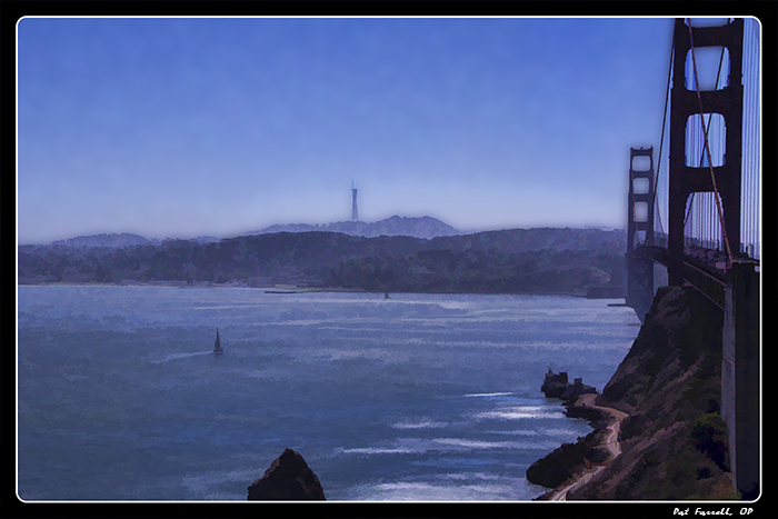 The Golden Gate Bridge is not exactly a narrow bridge, but it has to be one of the most beautiful in the world.