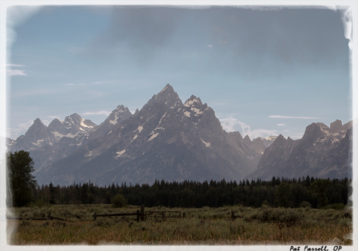 The peaks of the Grand Tetons