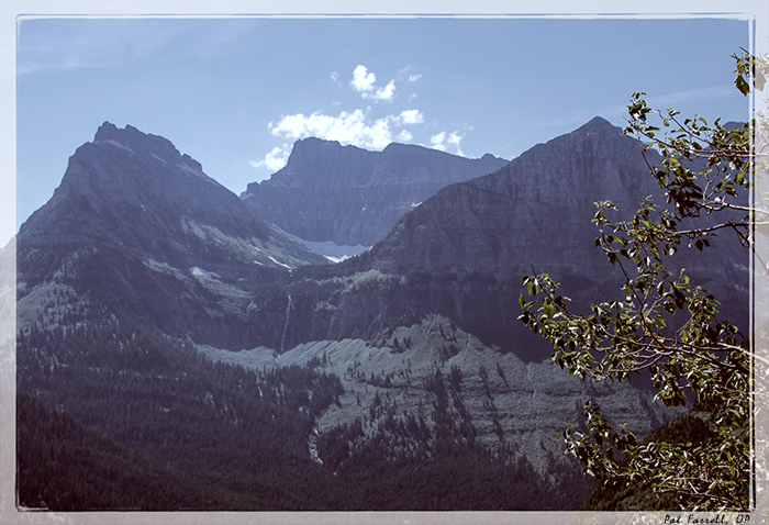 The glorious mountains of Glacier National Park
