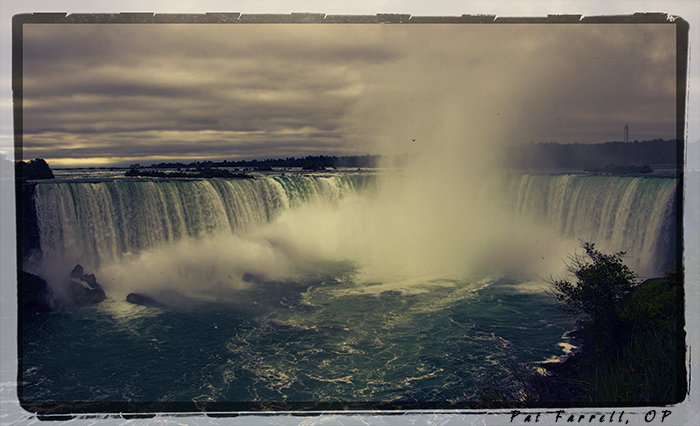 In the grandeur of Niagara Falls, how is one's heart not moved to worship?