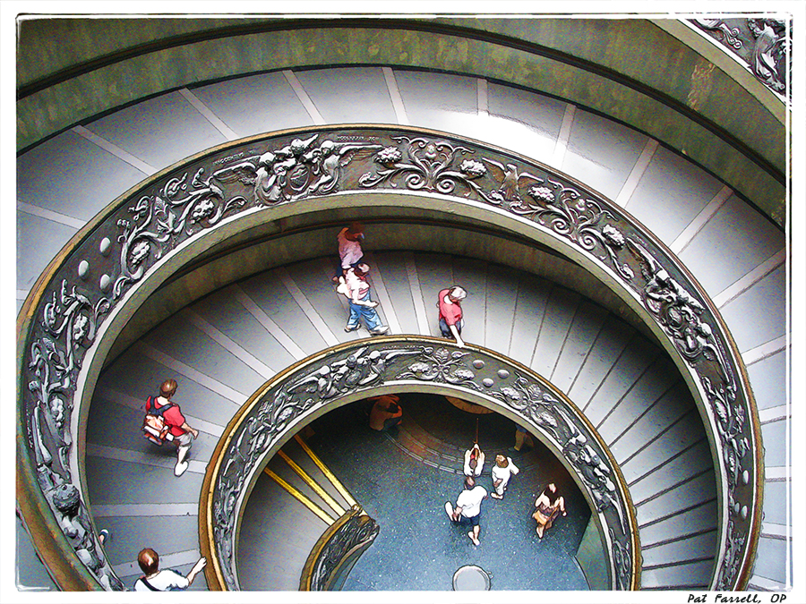Spiral stairway at the Vatican Museum