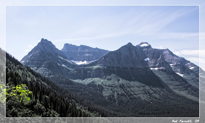 Remains of ancient glaciers in Glacier National Park